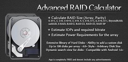 Advanced RAID Calculator - Free Android app | AppBrain