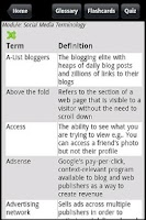 Screenshot of Social Media Guide & Quiz