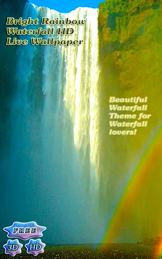 3D Bright Waterfall Free