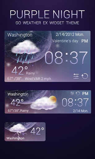 PURPLENIGHT THEME GO WEATHEREX Screenshot