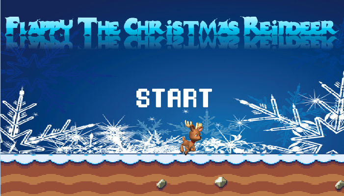 Flappy The Christmas Reindeer- screenshot