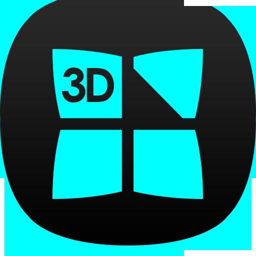 Next Launcher Dafna Cyan 3D 個人化 App Store-癮科技App