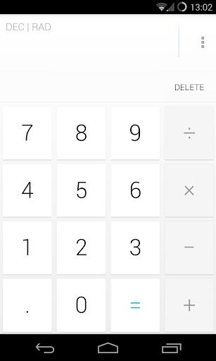 Calculator Holo Light Theme