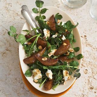 Roasted Pear, Feta, Watercress And Hazelnut Salad