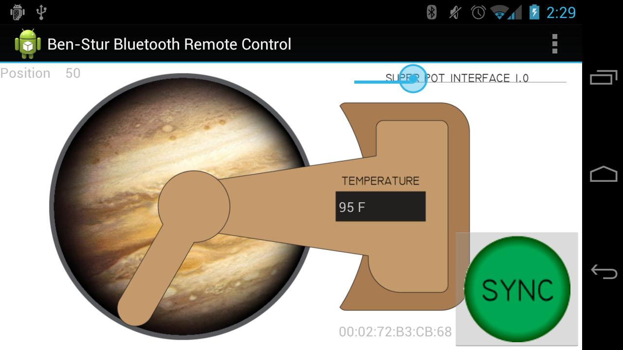 Ben Stur Bluetooth Pot Control- screenshot