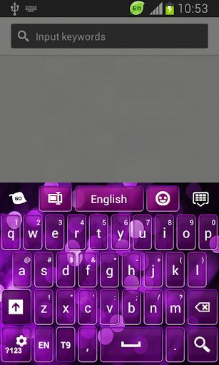 GO鍵盤紫色