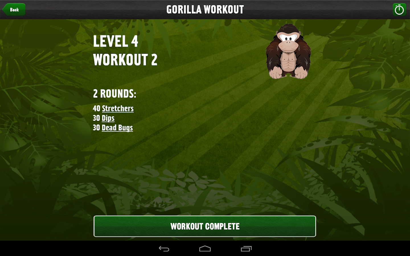 Gorilla Workout: Bodyweight Strength Progam- screenshot