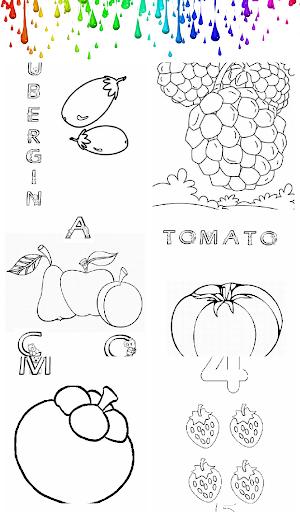 Paint Fruit ABC Kids