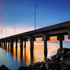 The Pier Tarakan City by Alan Fadlansyah - Landscapes Sunsets & Sunrises ( fadlansyah, pier, bridge, landscape, photography )
