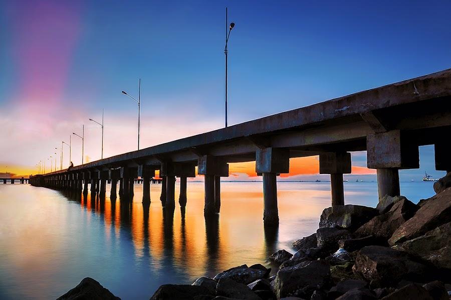 The Pier Tarakan City by Alan Fadlansyah - Landscapes Sunsets & Sunrises ( fadlansyah, pier, bridge, landscape, photography )