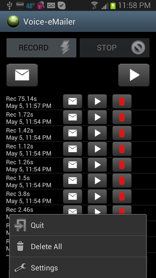 Voice eMailer - screenshot