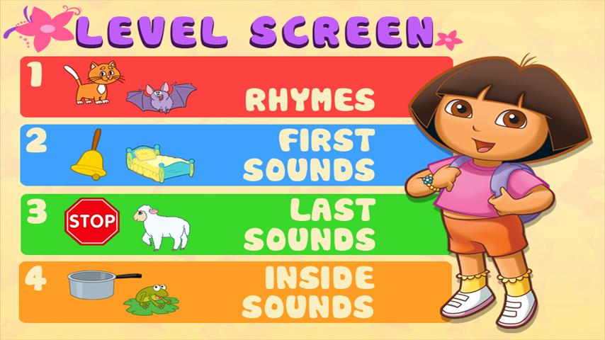 Dora ABCs Vol 2: Rhyming- screenshot