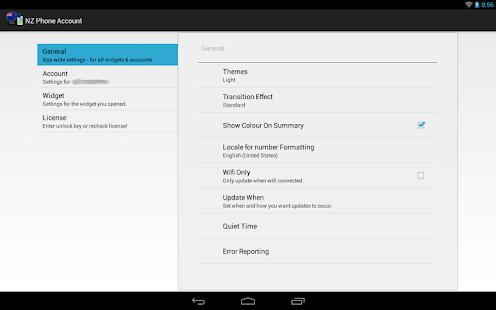 NZ Phone Account Widget - screenshot thumbnail
