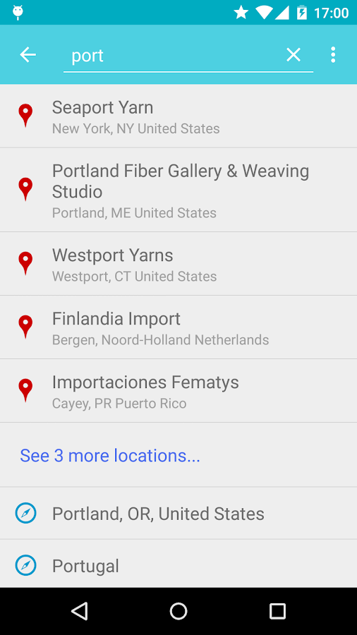 Knitmap - Yarn Store Finder- screenshot
