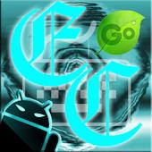 GOKeyboard Theme -ElectricCyan
