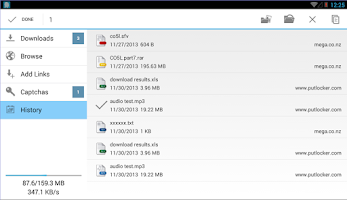 Screenshot of Ponydroid Download Manager