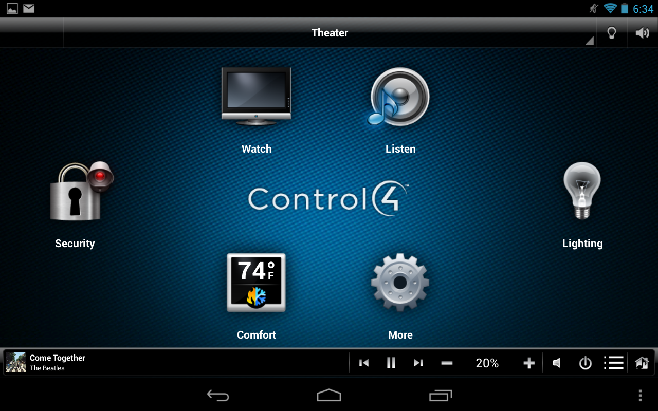 Control4® MyHome- screenshot