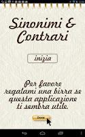 Screenshot of Sinonimi e Contrari