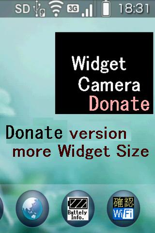WidgetCamera Donate version - screenshot