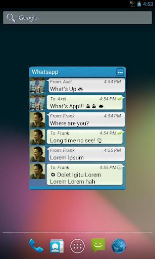 Widgets for Whatsapp™ 必要なルート)