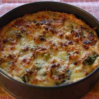 Broccoli And Cashew Quiche.