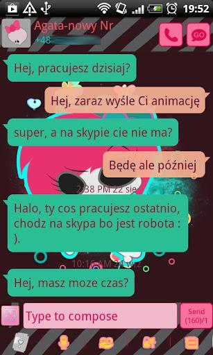 GO SMS Pro Emo Skull Theme