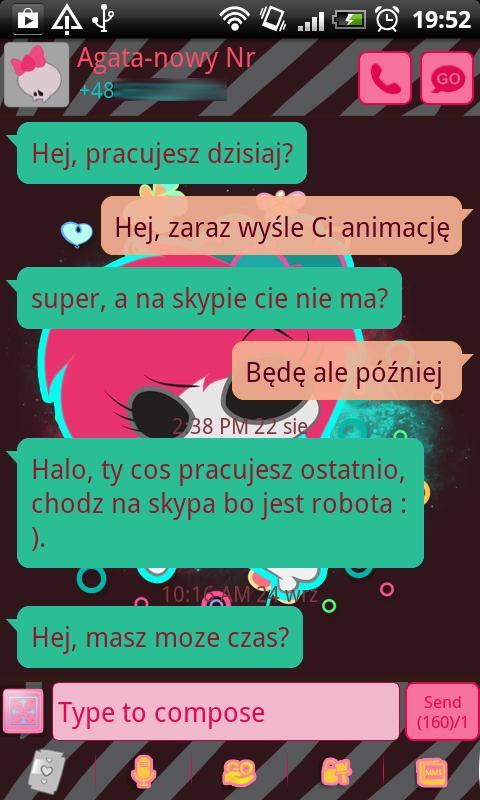 GO SMS Pro Emo Skull Theme- screenshot