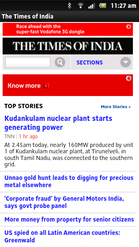 Indian English News Papers - screenshot