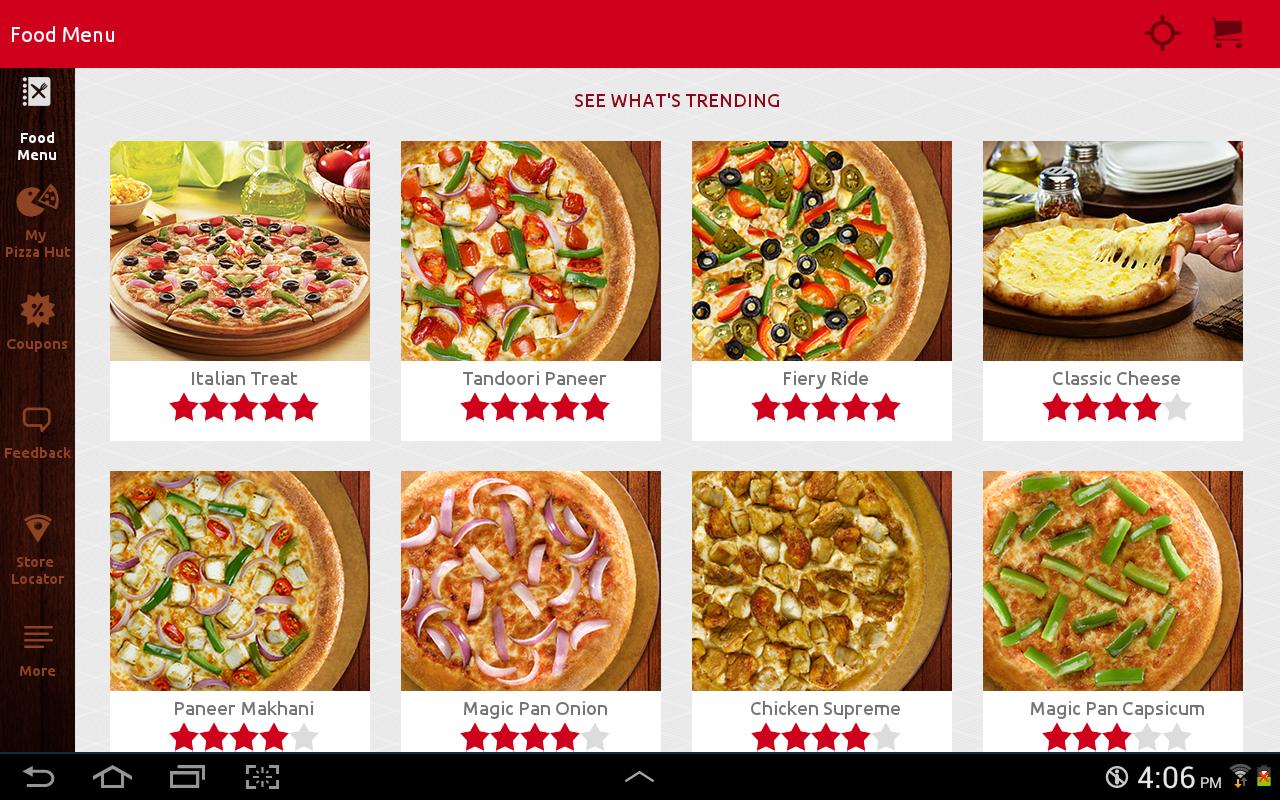 Phd online order menu