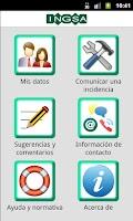 Screenshot of INGSA - Incidencias