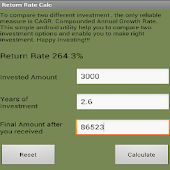Return Rate(CAGR) calculator