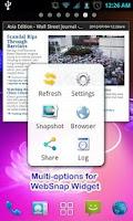 Screenshot of Websnap-Web capture,Web widget