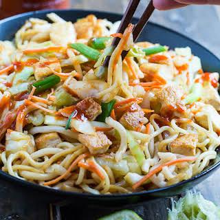 Sriracha Noodles with Tofu.