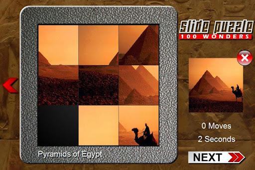 Slide Puzzle 100 World Wonders