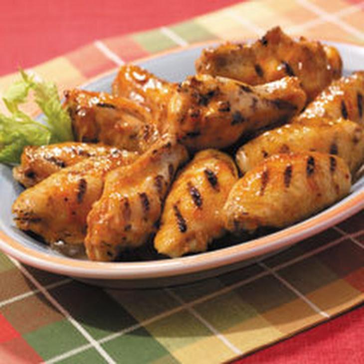 Maple-bourbon Glazed Chicken Wings