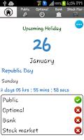 Screenshot of Indian Holidays List  2014