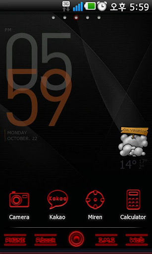 Red Black Go Launcher EX theme