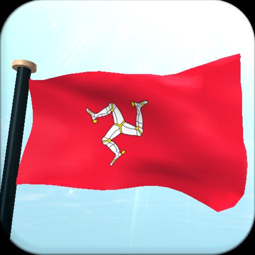 Isle of Man Flag 3D Free