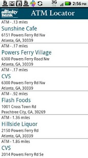 Affinity Bank ATM Locator - screenshot thumbnail