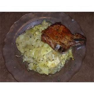 Pork Chop and Cabbage Casserole.
