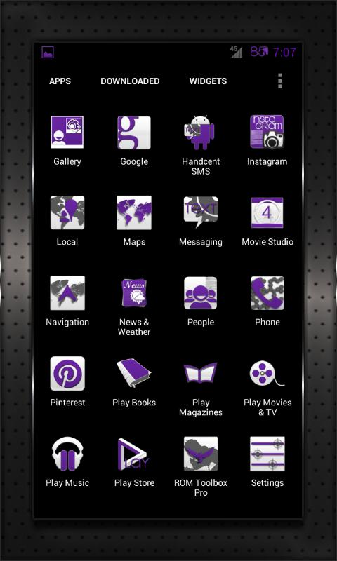 PURPLE HEAVY CM10 AOKP CM7+ - screenshot