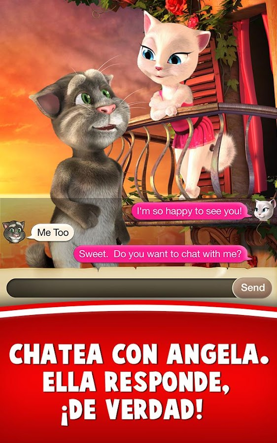 Tom ama a Angela: captura de pantalla