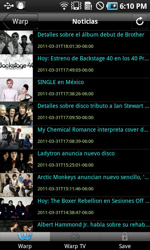 Warp Magazine Web - screenshot