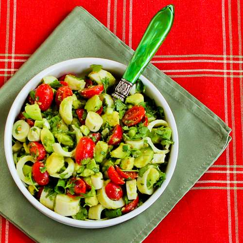 Heart of Palm Salad with Tomato, Avocado, and Lime (with or without Cilantro) Recipe