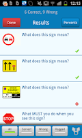 Screenshot of Motorcycle Theory Test +Hazard