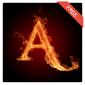 3D Letter Fire Live Wallpaper icon