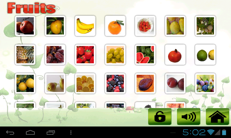 Fruit veg shape color for kids- screenshot