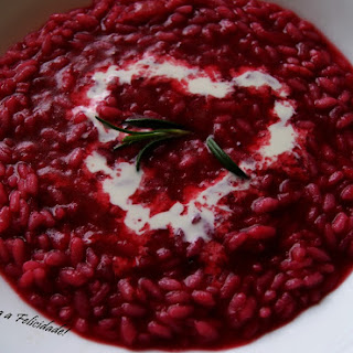 Beet Risotto with Coconut Milk.