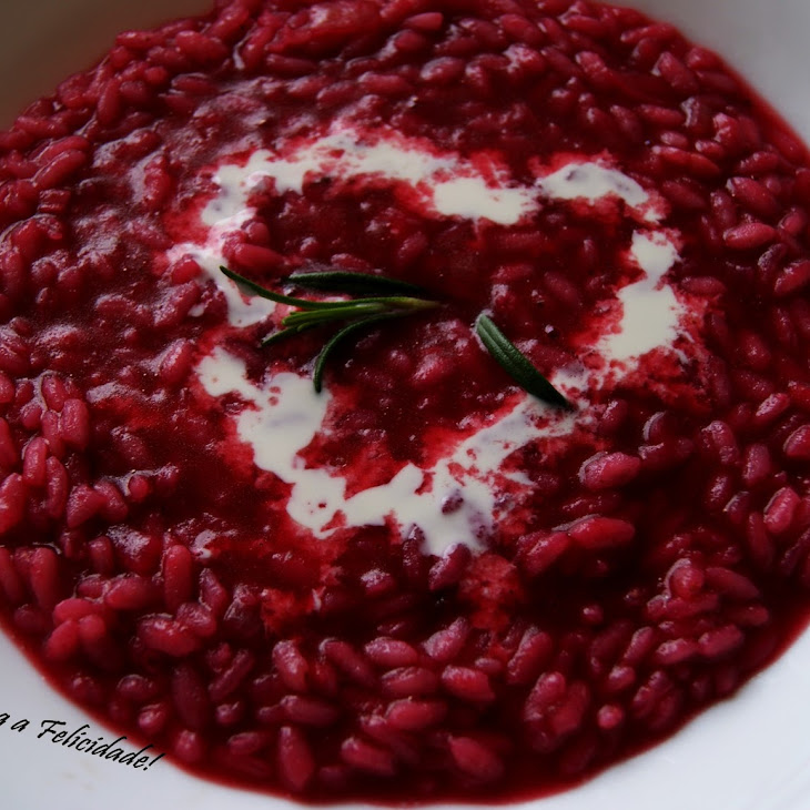 Beet Risotto with Coconut Milk