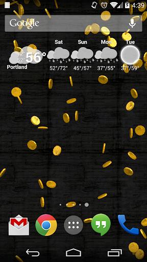 Falling Coins Free Wallpaper